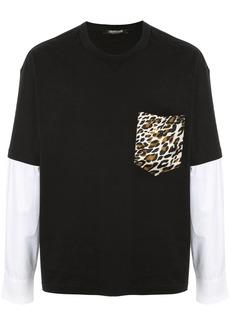 Roberto Cavalli contrasting sleeves T-shirt