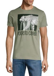 Roberto Cavalli Cotton Leopard Tee