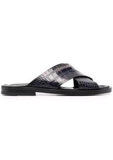 Roberto Cavalli crocodile-effect leather sandals
