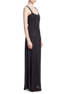 Roberto Cavalli Crossover Knit Bodice Gown