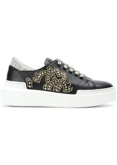 Roberto Cavalli crystal embellished slim-on sneakers