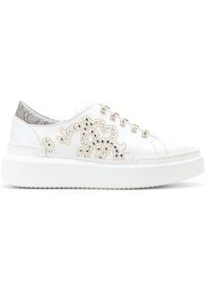 Roberto Cavalli crystal embellished slip-on sneakers