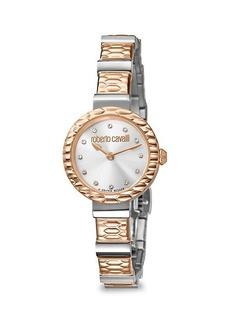 Roberto Cavalli Diamond Scala Two-Tone Stainless Steel Bracelet Watch