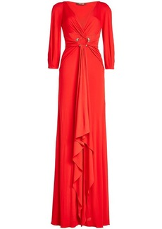 Roberto Cavalli Draped Floor Length Dress