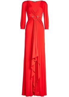 Roberto Cavalli Draped Floor Length Dress