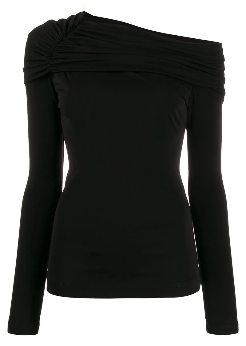 Roberto Cavalli draped neck top
