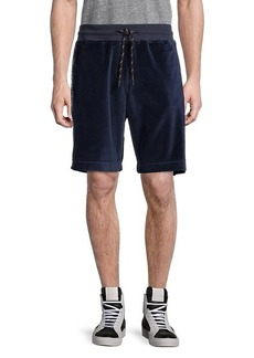 Roberto Cavalli Drawstring Logo Cotton-Blend Shorts