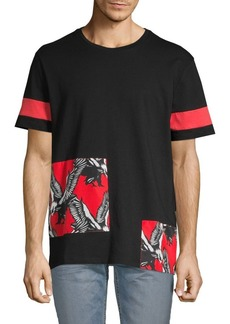 Roberto Cavalli Eagle Patch Crew T-Shirt