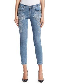 Roberto Cavalli Embellished Paisley Skinny Jeans