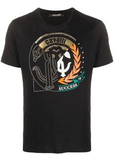 Roberto Cavalli embossed logo T-shirt
