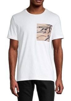 Roberto Cavalli Embroidered-Logo Stretch-Cotton Tee
