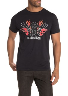 Roberto Cavalli Flame Graphic Logo T-Shirt