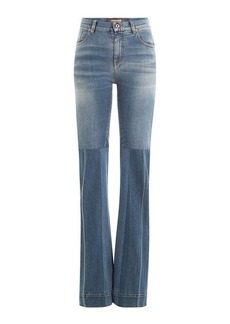 Roberto Cavalli Flared Jeans with Patchwork