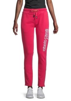 Roberto Cavalli Fleece Logo Pants