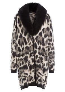Roberto Cavalli Fleece Wool and Mohair Cardigan Coat