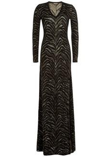 Roberto Cavalli Floor-Length Jacquard Gown