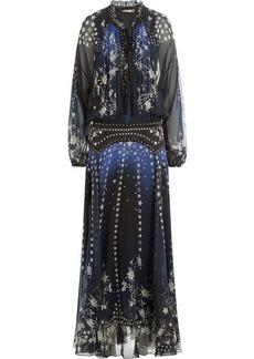 Roberto Cavalli Floor Length Printed Silk Chiffon Dress