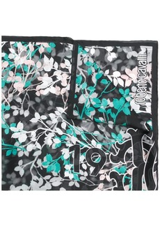 Roberto Cavalli floral embroidered scarf