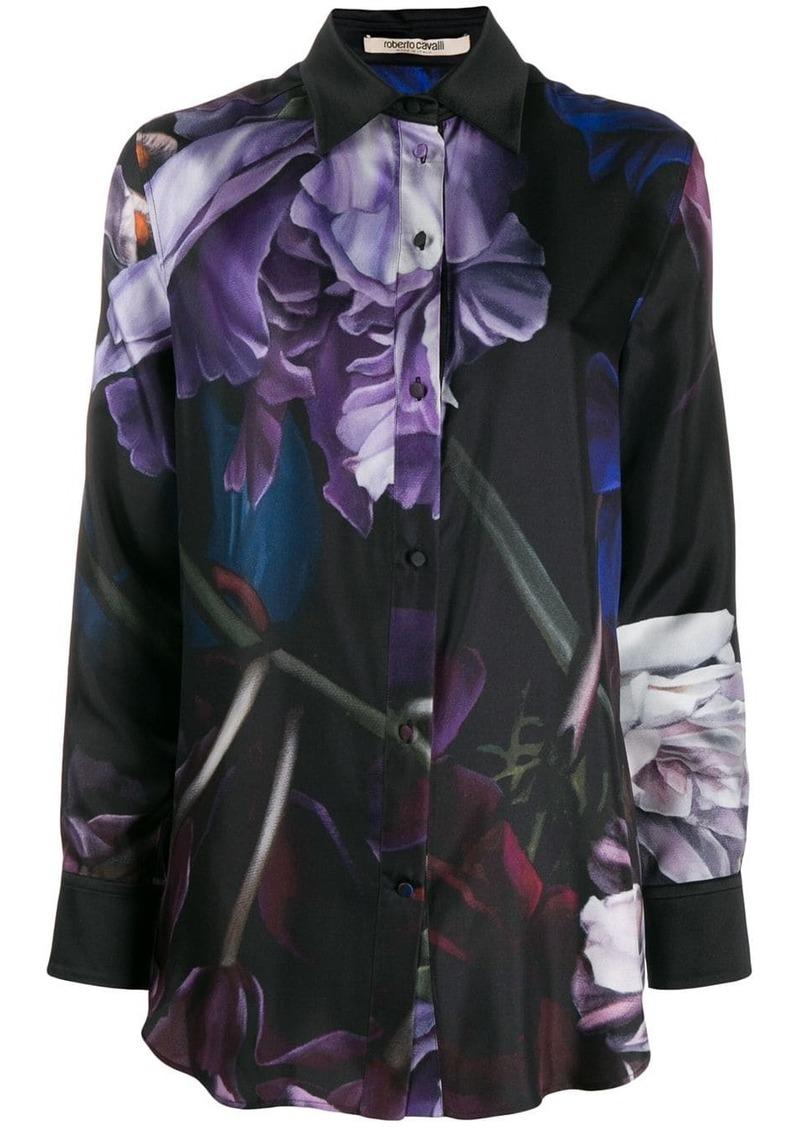 Roberto Cavalli floral graphic print shirt