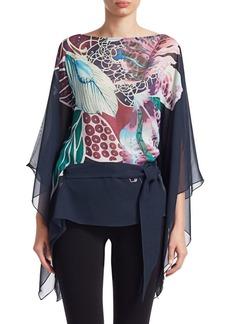 Roberto Cavalli Floral Silk Caftan Blouse