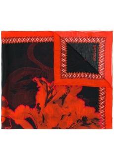 Roberto Cavalli floral square scarf