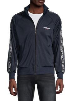 Roberto Cavalli Full-Zip Logo Taping Track Jacket