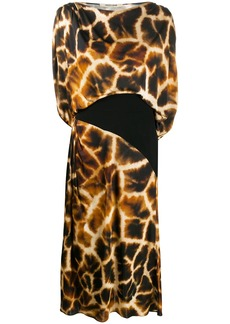 Roberto Cavalli giraffe-print dress
