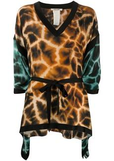 Roberto Cavalli giraffe print kaftan