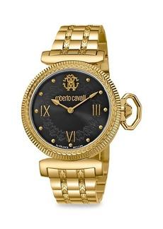Roberto Cavalli Goldtone Stainless Steel Bracelet Watch