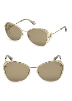 Roberto Cavalli 58MM Gradient Cat Eye Sunglasses