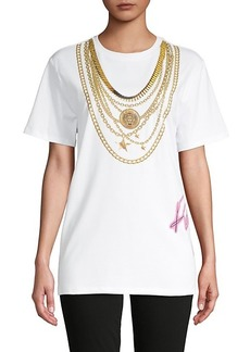 Roberto Cavalli Graphic Cotton-Blend Tee