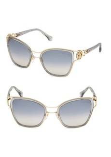 Roberto Cavalli Gray Double Bridge Cat Eye Sunglasses/54MM