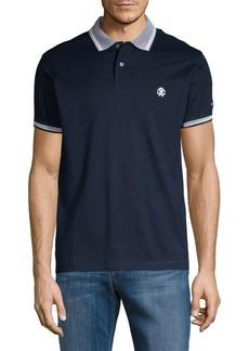 Roberto Cavalli Jacquard Stripe-Trimmed Cotton Polo
