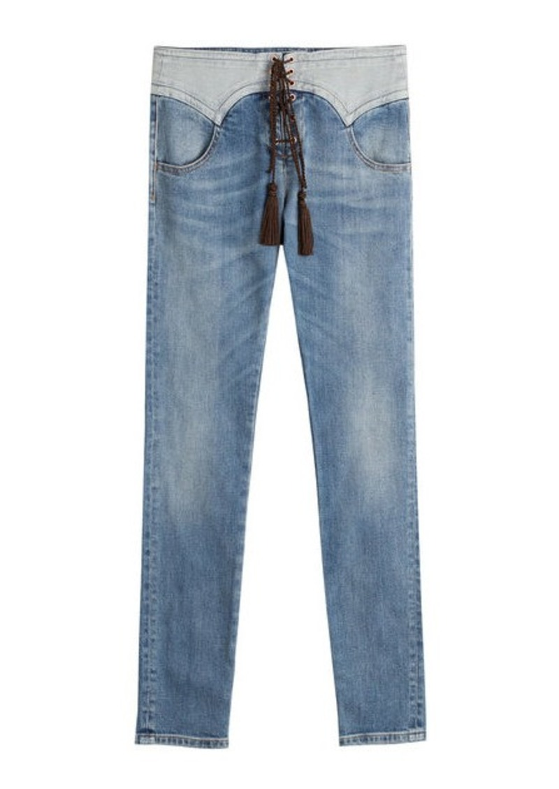 Roberto Cavalli Jeans with Lace-Up front