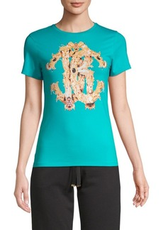 Roberto Cavalli Jewel Logo Graphic T-Shirt