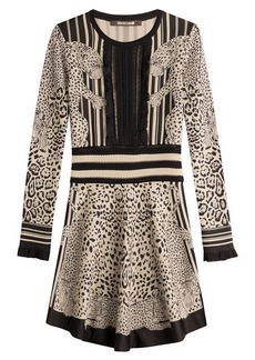 Roberto Cavalli Knit Dress with Sheer Insert