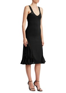 Roberto Cavalli Knit Scoopneck Fit-&-Flare Dress