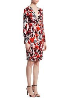 Roberto Cavalli Knot-Front Dress