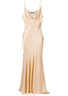 Roberto Cavalli lace-panel sleeveless dress