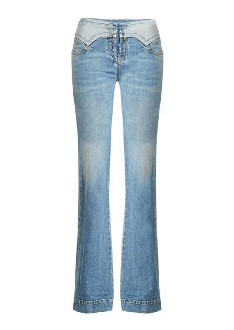 Roberto Cavalli Lace-Up Flare Jeans