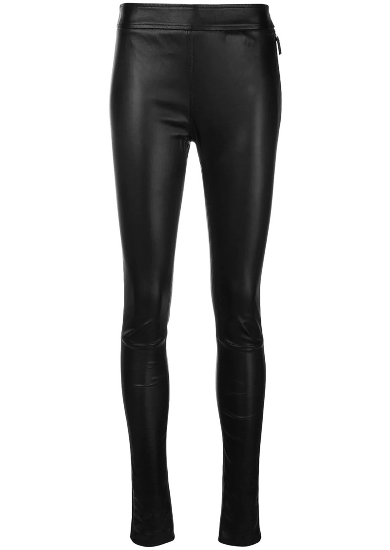 Roberto Cavalli leather leggings