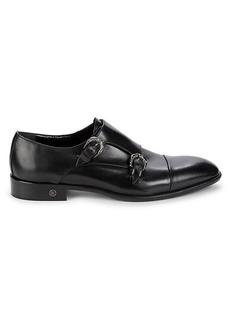Roberto Cavalli Leather Monk-Strap Shoes