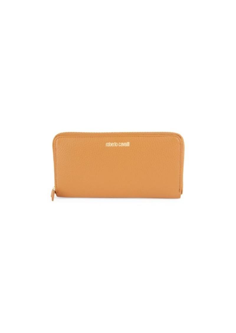 Roberto Cavalli Leather Rectangular Wallet