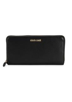 Roberto Cavalli Leather Zip Wallet