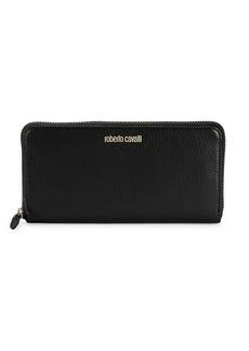 Roberto Cavalli Leather Zip Wallet