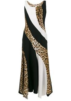 Roberto Cavalli leopard panel dress