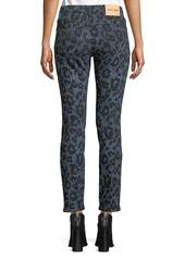 Roberto Cavalli Leopard-Print Denim Skinny Jeans