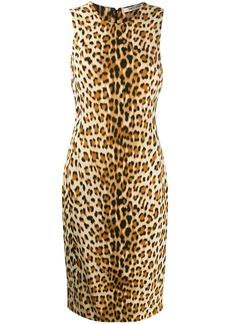 Roberto Cavalli leopard print fitted dress