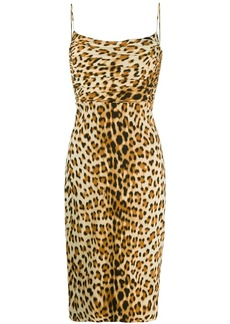 Roberto Cavalli leopard-print fitted dress