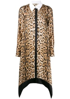 Roberto Cavalli leopard print shirt dress